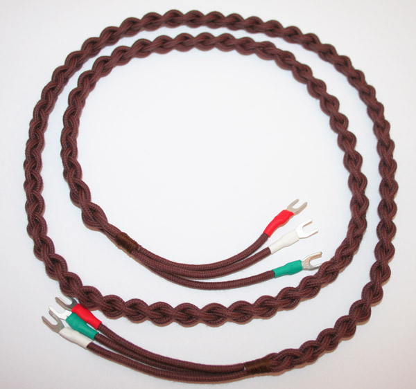 Brown braided handset cord for 200/300 series telephone.