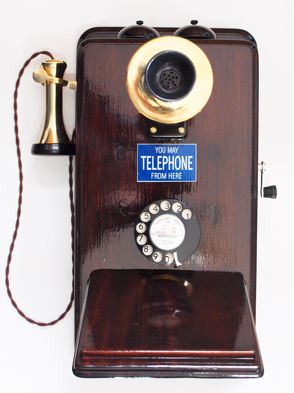 Gpo No11 Wooden Wall Telephone