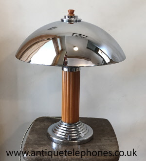 Single Art Deco Bakelite And Chrome Domed Table Lamp